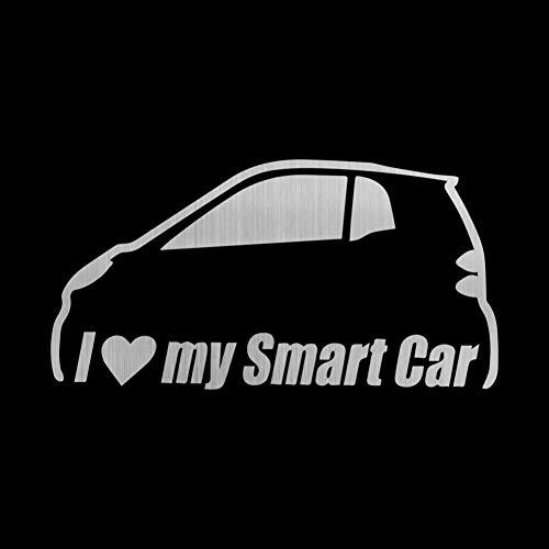 CTHK Autoaufkleber Auto Aufkleber Ich Liebe Mein Smart Car Funny Decals Auto Auto Aufkleber und Abziehbilder Car Styling Dekoration Tür Karosserie Fenster Vinyl Sticke (Funny Karosserie Car)