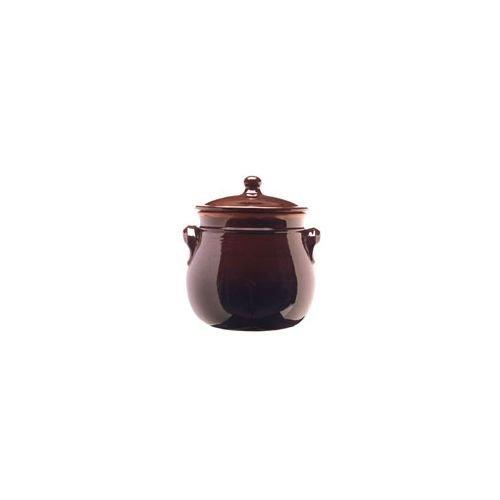 colì maioliche y TERRECOTTE Desde 1650Brunella Olla abombada con Tapa, Terracota, marrón,...
