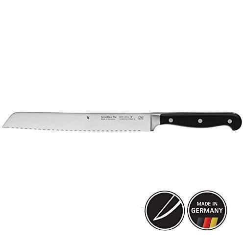 WMF 1895766032 Couteau à Pain à Double crantage, Acier, Noir, 37 x 8 x 3 cm