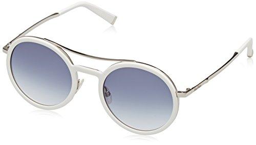 Max Mara Damen MM OBLO U3 UJU 49 Sonnenbrille, Weiß (White Gold/Grey Sf),