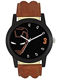 Ms Enterprise Black Dial Analog Watch For Mens And Boys - MS-IM-002