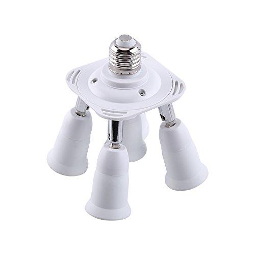 3/4/5 in 1 einstellbar E27 zu E27 Basis Licht Lampe Adapter Buchse Splitter neu(5 in 1) 3 Splitter