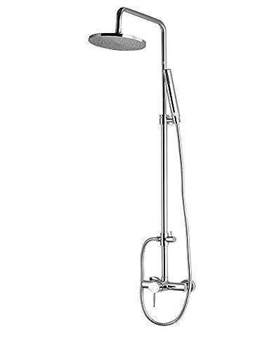 CRACCO Stylish Wall-Mounted Shower Kit System Set Column Panel Riser Slide Rail Chrome