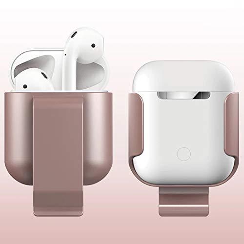 MEMETIXHEVATEe Hörmuschel Schutzhülle Bluetooth Kopfhörer Taille Clip Taille Protector Bracket Silikon Schutzhülle for Airpods (Schwarz) Kopfhörer (Farbe : Rose Gold) -