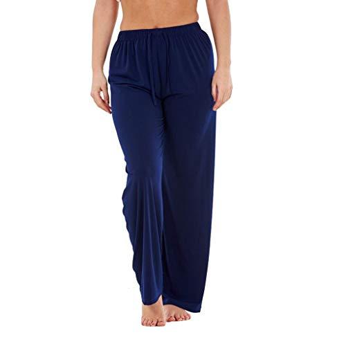 Yvelands Damen Shorts Hosen elastische hohe Taille Breasted lose dünne Weite Hosen(Marine,M) 2t 4t Bottoms Jeans