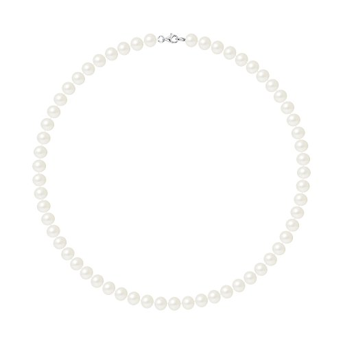 Pearls & Colors Collana di perle - AM17-COL-AG-POT78-M-WH