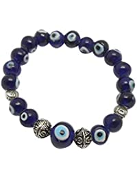 Jaz's Evil Eye-Buri Nazar-Buri Drishti-Blue Bead-Bracelet-Good Luck Protection BeadsStretchable Bracelet - B071HY4NXR