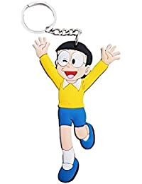 Key Era Nobita Rubber Multi Colour Keychain & Keyring For Bikes, Cars, Bags, Home, Cycle, Men, Women, Boys And...