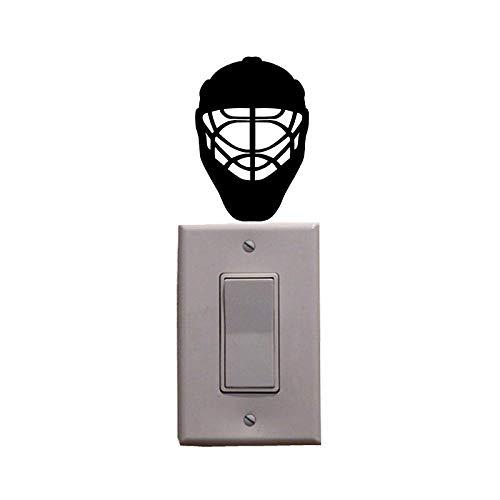 ONETOTOP Sport Eishockey Helm Vinyl Schalter Aufkleber Wandtattoo 5 Stück