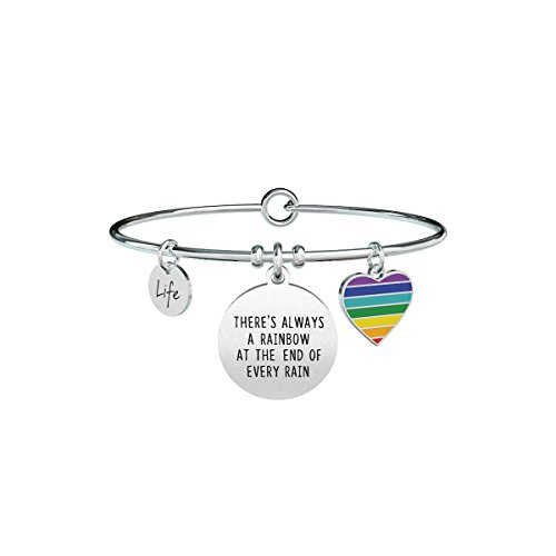 KIDULT LIFE PHILOSOPHY BRACCIALE ACCIAIO 316L - THERE'S ALWAYS A...731313