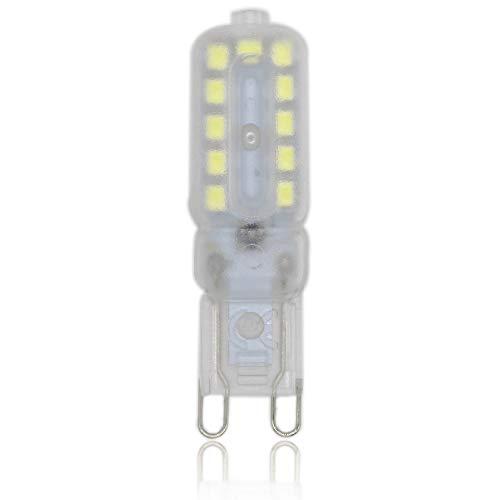 1 pezzi Lampadina LED G9 5W 22x2835 SMD LED lampada LED Bianco Freddo 6000K Equivalente a 40W Lampada Alogena 400lm Angolo di visione 360° AC220V