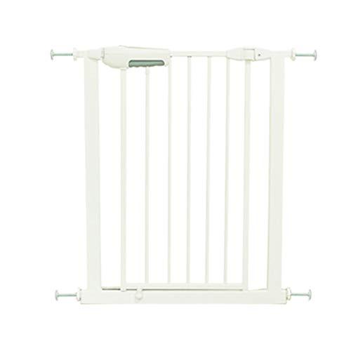 Barrières MAHZONG Porte de sécurité pour Animaux de Compagnie avec sécurité pour Enfants, 75 à 124 cm (Blanc) (Taille : 75-82cm)