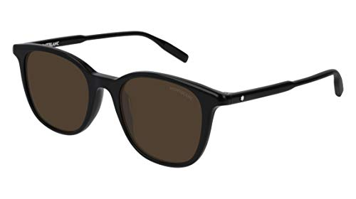 Sonnenbrillen Mont Blanc MB0006S BLACK/BROWN Herrenbrillen
