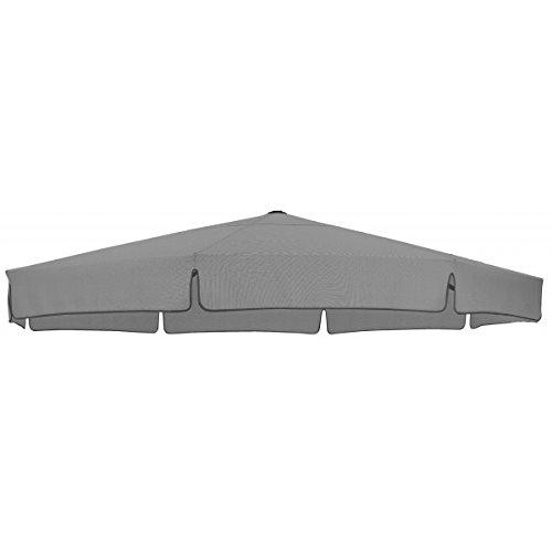 Sun Garden Ersatzbezug zum Easy, meliert, 100 prozent Polypropylen, Stoff B055, Durchmesser 350 cm, grau