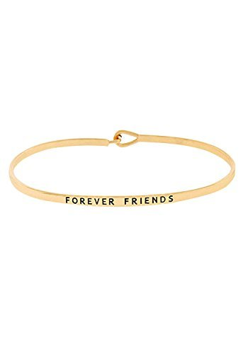 colecciones-de-rosemarie-mujer-dorado-thin-hook-pulsera-forever-friends-