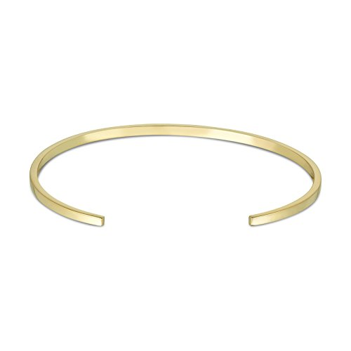 Arque Men's Small Polished 9 ct Yellow Gold Small/Medium Cuff of 14.6 cm