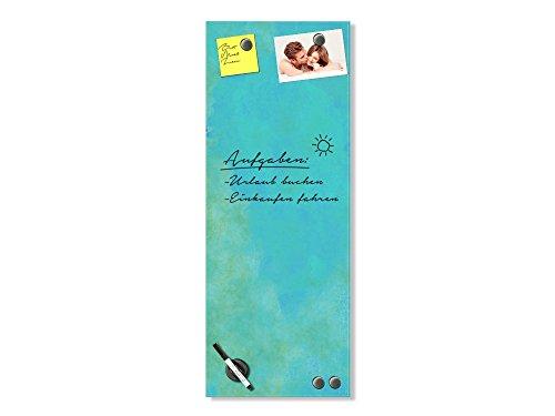 GRAZDesign Magnettafel für die Küche Himmel - Magnetwand Küche Blau - Schreibtafel Hochformat - Magnettafel Glas Küche für Kinderzimmer / 40x100cm / 501963_40x100_GL_MT