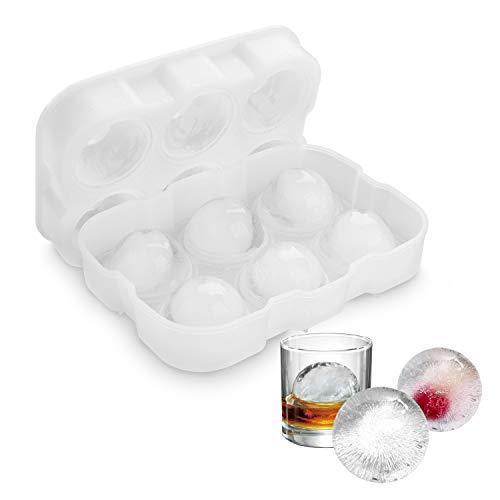 Muffa di ghiaccio con sfera, Vogek Whiskey Ice Ball Maker, 6 X 4,7 cm Muffa trasparente con sfera di ghiaccio rotonda, riutilizzabile e senza BPA