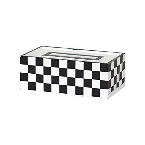 YQCSLS Nordic Minimalist Kreative Holz Tissue Box Europäischen Stil Wohnzimmer Tray Home Servietten Box Aufbewahrungsbox (Color : A)