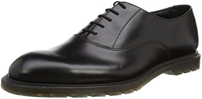 Dr. Martens Fawkes Polished Smooth Black, Zapatos de Cordones Oxford para Hombre -