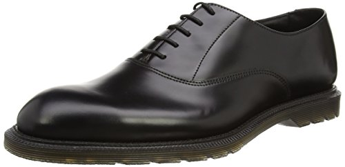 Dr. Martens Fawkes Polished Smooth Black, Chaussures à lacets homme Schwarz (Black)