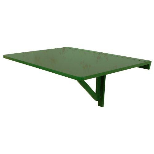 SoBuy® Mesa plegable de pared, mesa plegable, mesa de madera, mesa de comedor de madera, 75x60cm, FWT01 Gr(verde)