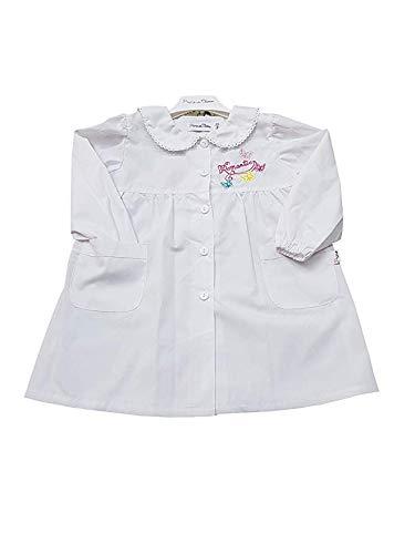 Grembiule bianco scuola materna asilo per bambina (art. 8p404) (50-3 anni)