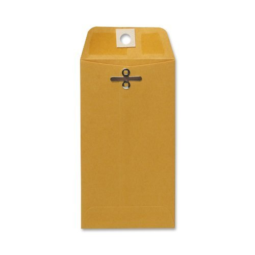 sparco-clasp-envelope-28lb-3-1-8-x-5-1-2-inches-100-per-box-kraft-spr01340-by-sparco