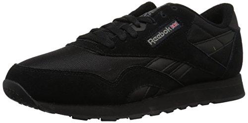 Reebok Herren CL Nylon Niedrige Sneaker, Black/Carbon, 39.5 EU