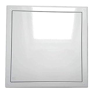 AGX Wäscheschachtklappe \ Wäscheabwurfschacht Klappe \ Tür mit Druckverschluss in weiß (25 x 25 cm)