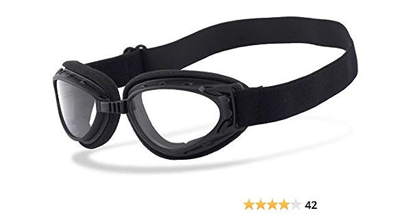 Helly No 1 Bikereyes Motorradbrille Ideal Für Jethelme Bikerbrille Beschlagfrei Winddicht Hlt Kunststoff Sicherheitsglas Nach Din En 166 Motorradbrille 1330b N Auto
