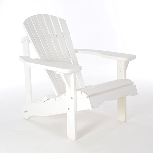 Gartenstuhl/Gartensessel Canadian Jumbo Adirondack Deck Chair aus Kiefernholz in weiß