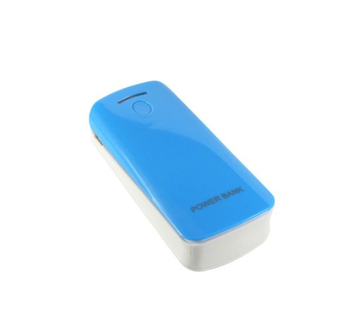 use zum Aufrüsten von 18650 Akkus. Blau USB Port Externer Akku, Batterie / Powerbank / Power Bank / Ladegerät für Smartphones, Android Phones Tablets, iPad, iPhone, Handy, PSP, GoPro, GPS (Portable Droid Ladegerät)