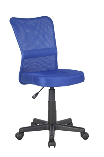SixBros. Bürostuhl Drehstuhl Schreibtischstuhl Blau H-298F/2065