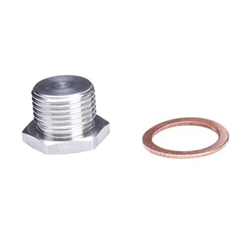 Vosarea O2 Sauerstoffsensor Anschlussstecker 18x1,5 Größenangaben 304 Edelstahl verstellbares Design (Silber) 1,6 X-sensor