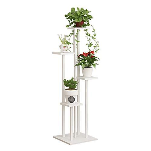 Weiß Blumentreppe aus Metall Holz | Pflanzentreppe, Pflanzenregal Blumenregal, Blumenbank, Pflanzenständer Blumenständer für Innen Außen Garten Dekor