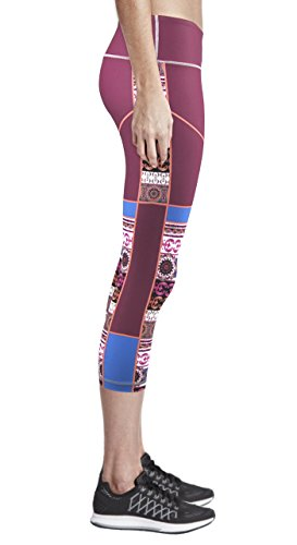 Zipravs Women Tight Capri Running Compression Yoga Cropped Leggings ZYCP-133