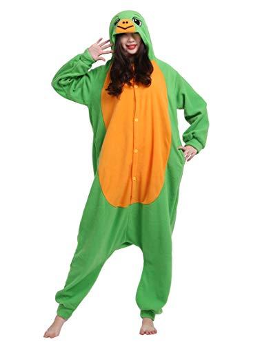 Unisex Kigurumi Jumpsuit Tier Pyjamas Kostüm Fasching Onesie Damen Herren Karneval Cosplay Nachtwäsche, Grün Schildkröte