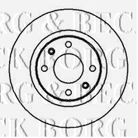 Borg & Beck BBD4245 Brake Disc (A Pair)