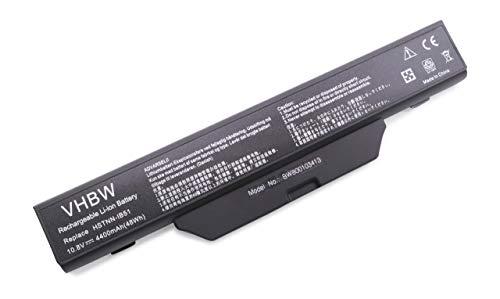 vhbw Li-ION Batterie 4400mAh (10.8V) Noire/Black pour HP Compaq Notebook 550, 610, 6700 etc. remplaçant 451085-141/451085-661/451086-001 etc.