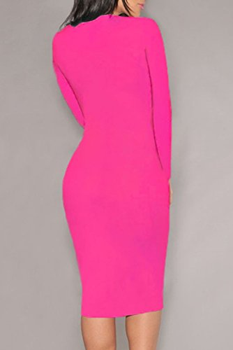 E-Girl femme Rose SY6740 robe de cocktail Rose