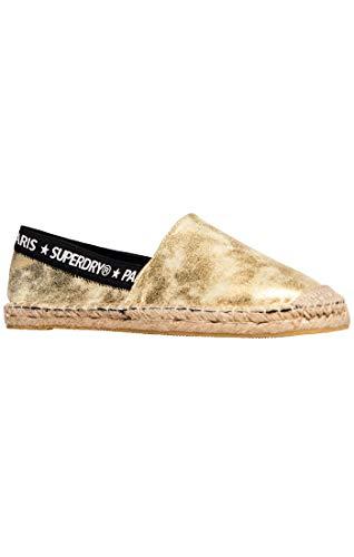 Superdry Damen Erin Elastic Espadrilles, Distressed Gold Yv5, 36 EU - Distressed Loafer