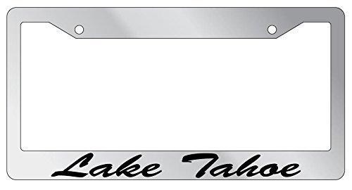 DIY Rine 30,5 x 15,2 cm Aluminium Metall Kennzeichenrahmen Humor Kennzeichenrahmen Abdeckung Halter Auto Tag Rahmen 2 Loch Schrauben, Lake Tahoe (Lake Tahoe Plate License Frame)
