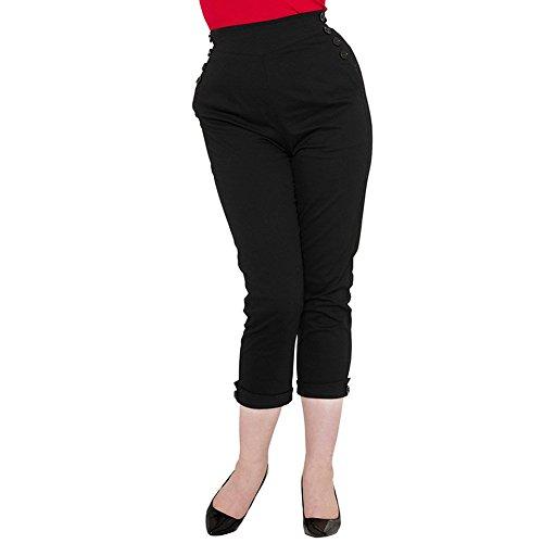 Pantaloni Capri Henrietta Voodoo Vixen (Nero) - Medium
