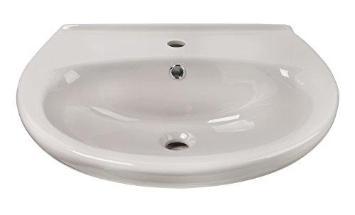 Waschtisch | Wachbecken | Waschplatz | 60 cm | Weiß | Handwaschbecken | Keramik | Bad | Badezimmer | Gäste-WC | Mit Überlaufschutz