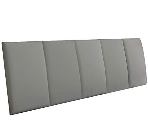 LXLIGHTS Kopfteil Kopfkissen Bettkeil Sofakissen Rückenlehne Taillenauflage, 7 Farben 6 Größen (Farbe : Gray, größe : 200 * 55 * 5cm)