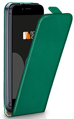 moex iPhone 6S | Hülle Dunkel-Grün 360° Klapp-Hülle Etui Thin Handytasche Dünn Handyhülle für iPhone 6/6S Case Flip Cover Schutzhülle Kunst-Leder Tasche - Leder Vertikal 6 Case Iphone