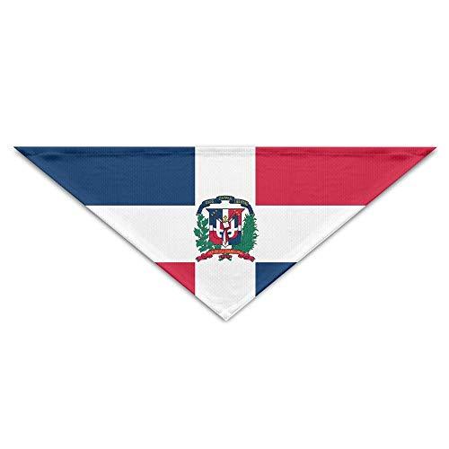dfegyfr Dominican Republic Dazzling Flag Triangle Pet Scarf Dog Bandana Pet Collars for Dog Cat - Birthday