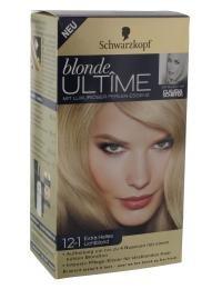 Schwarzkopf blonde Ultîme mit Luxuriöser Perlen-Essenz Haarfarbe Nr. 12-1 Extra Helles Lichtblond für eine Aufhellung um bis zu 4 Nuancen mit einem kühlen Blondton.