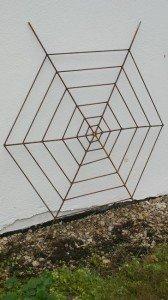 Rost Spinnennetz Spalier Stecker*